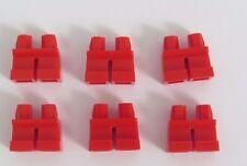 Lego 6 Short Leg Legs Lower Parts For Minifigure Figure  Red