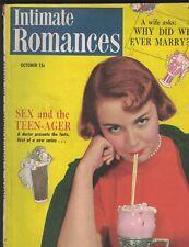 Intimate Romances Magazine October 1950 Soda Counter Cover