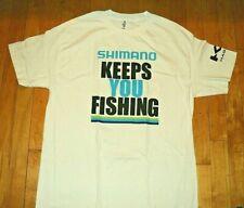 SHIMANO FISHING EQUIPMENT NEW Keeps You Fishing Logo T Shirt Size L