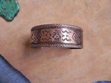 Bell Trading Post Stamped Copper Bracelet Thunderbird, Arrows, Raincloud etc.