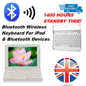 Wireless Bluetooth Keyboard Case Cover Stand For iPad & Bluetooth Devices