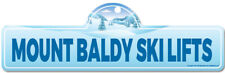 Mount Baldy Ski Lifts Street Sign | Snowboarder, D�cor for Ski Lodge, Cabin