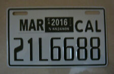 Motorcycle license Plate from 90's #6688