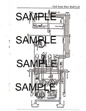 CORD FRONT DRIVE MODEL L-29 LYCOMING STRAIGHT EIGHT WIRING DIAGRAM GUIDE CHART