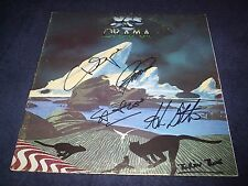 """YES SIGNED RECORD TITLED """"DRAMA"""" 4 MEMBERS R.I.P MR.SQUIRE WOW! INSCRIBED PROOF!"""