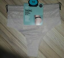 BNWT M&S Almond No VPL Thong UK 8 Invisible Waistband Ultimate Smooth Silhouette