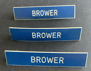 Brower Name Badge Lot Of 3