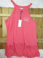 Red Camel women's size XL Pink High Neck Ruffle Southern Sumer Tank NWT AW21