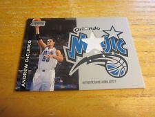 Andrew DeClercq 2000-01 Stadium Club Game Jerseys #SCOM11 Relic Card NBA Magic
