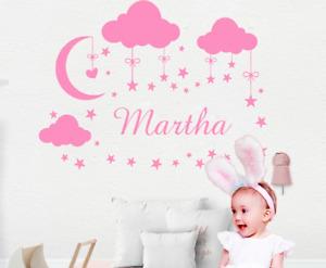 Custom Name Wall Sticker Kids Bedroom Nursery Vinyl Decoration FREE SHIPPING