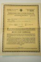 Antiker Versicherungsschein Nordstern und Vaterländisch aus Jahr 1932 K-1545