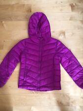 Gap girl light weight puffer coat hot pink sz M (8)