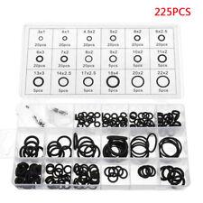 225 Pcs Black Rubber O Ring Oring Seal Plumbing Garage Set Kit 18 Sizes
