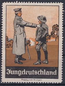 Alte Patriotika Reklamevignette für Jungdeutschland ANSEHEN