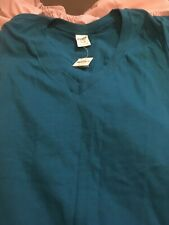 New Victoria's Secret T- shirt V Neck Size MEDIUM Blue NWT