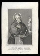 santino incisione1800 S. LEONARDO DA PORTO MAURIZIO