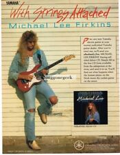 1990 YAMAHA Pacifica Electric Guitar MICHAEL LEE FIRKINS Vtg Print Ad