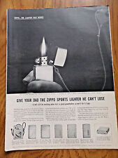 1959 ZIPPO Lighter Ad give Your Dad the Zippo Sports Lighter he Can't Lose