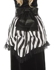Bustle Womens Adult Black White Striped Victorian Costume Waist Wrap-Os