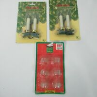 Vintage Franks 4 Candle Accent Lights Clip On Add On Christmas 6 Lamp Holders