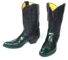 Handmade Green Alligator Triad Cowboy Boots - Women's 5.5B Pee Wee Stallion Qual