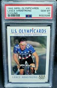 Lance Armstrong RC 1992 Impel Olympicards #31 PSA 10 Gem Mint USA Goat Rookie