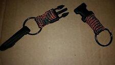 NEW Clipcat keychain Valet key chain dual split rings belt clip green orange now