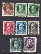 Bavaria postage stamps - 1914 8 x Used - Collection odds