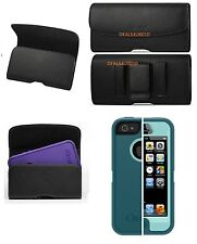 XL IPHONE 5 5c 5s BELT CLIP HOLSTER LEATHER FITS OTTERBOX COMMUTER CASE ON PHONE
