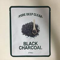 1 SHEET A'PIEU PORE DEEP CLEAR BLACK CHARCOAL MASK PACK - OIL MOISTURE BALANCE