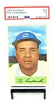1954 Bowman #90 HOF Dodger ROY CAMPANELLA Vintage Baseball Card PSA 3 VERY GOOD