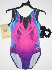 GK Elite Gymnastics Leotard Child Medium Black/Blue/Pink/Purple FREE SHIP!