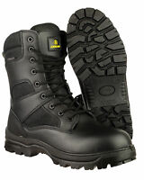 Amblers Combat Black Waterproof Army Police Tactical Mens Leather Boots UK4-14
