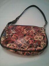Chinese tatoo print faux leather purse