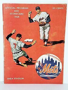 NY Mets Vs Sanfrancisco Giants 1968 Shea Stadium Program And Scorecard
