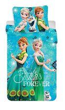 Frozen Anna e Elsa set Lenzuola 140x200cm COPRIPIUMINO singolo in Cotone,bambini