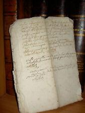 Ancien manuscrit fascicule de 10 pages  sous le règne de Louis  XV en 1750