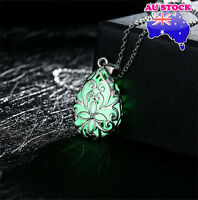 Magic Green Luminous Steampunk Teardrop Glow In The Dark Pendant Necklace