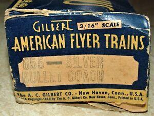 POSTWAR AMERICAN FLYER S SCALE 655 SILVER BULLET EMPTY  BOX ONLY(NO TRAIN)