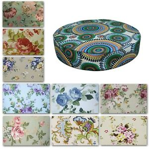 """2""""Thick-Round Box Shape Cover *Rose Cotton Canvas Chair Seat Cushion Case*AF1"""