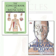 Concise Book of Muscles and Concise Human Body Book 2 Books Collection Set NEW