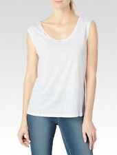 New Nordstrom Super Soft Topshop Barry Jersey White Tank Top Woman's Size 4