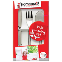 CUTLERY SET HOMEMAID 3 PCS  KNIFE FORK SPOON S/STEEL KIDS BABY TODDLER