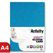 Premier Art + Craft A4 250gsm Sparkle Glitter Card - Turquoise - 40 Sheet Pk