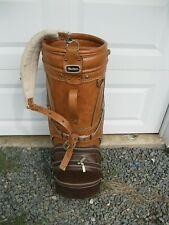 VTG Macgregor Faux Leather Golf Bag 6 Dividers Brown Tan