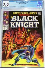MARVEL SUPER HEROES #17 *  CGC 7.0 * 47 48 ORIGIN BLACK KNIGHT SNOW GOT ETERNALS