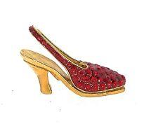 Ruby Red Crystal High Heel Shoe 083 Jewelry Trinket Box Decorative Ornament