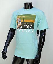 Diamons Supply co. Paris Logo Skateboard Mens Teal T shirt Size Large