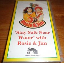 ROSIE & JIM - STAY SAFE NEAR WATER - Very rare UK Kids Childrens RoSPA VHS