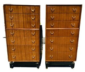 A Pair Of Vintage Gplan Librenza Chest Of Drawers